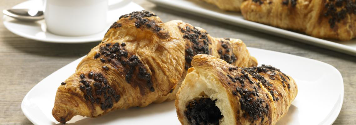 Chocolate Hazelnut Filled Croissant