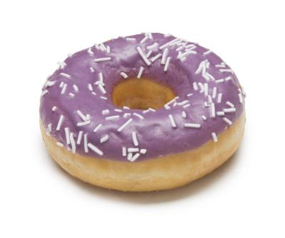 Manhattan donut with blueberry flavor